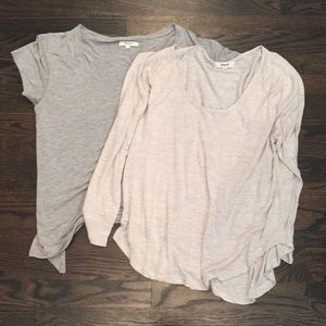 Madewell gray t-shirts, size large